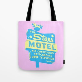 Seeing Stars ... Motel ... (Pink Background) Tote Bag