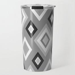 Diamond pattern - monochrome Travel Mug
