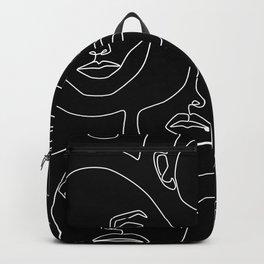 Faces in Dark Backpack
