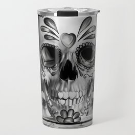 Pulled sugar, day of the dead skull Travel Mug