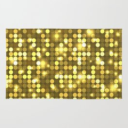 Multicolored yellow polka-dot pattern Rug