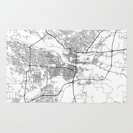 Minimal City Maps - Map Of Little Rock, Arkansas, United States Rug