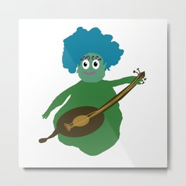 Musician From Another Dimension Metal Print