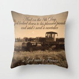 8th Day - Farmer Throw Pillow