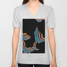 5126s-MAK Abstract Large Breasts Torso Composition Style Unisex V-Neck