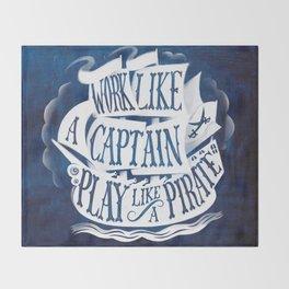 like a pirate Throw Blanket