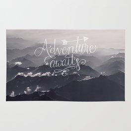 Adventure awaits Typography Gorgeous Mountain View Rug