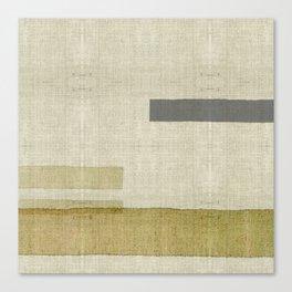 """Burlap Texture Natural Shades"" Canvas Print"