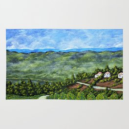 Vineyards Near Nice, France by Mike Kraus - art french france p Rug
