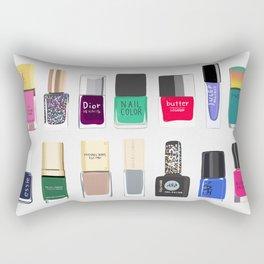 My nail polish collection art print Rectangular Pillow