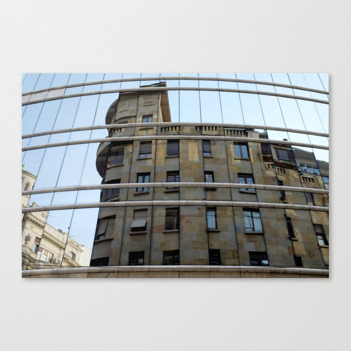 Belgrade / Reflections of Buildings on Buildings Canvas Print