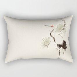 Oriental Red-Crowned Crane 002 Rectangular Pillow