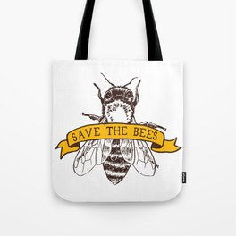 Save The Bees Tote Bag