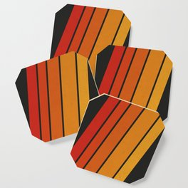 Retro 70s Stripes Coaster