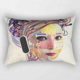 Desconectada Rectangular Pillow
