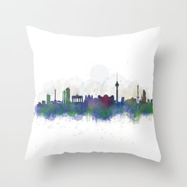 Berlin City Skyline HQ3 Throw Pillow