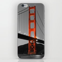 Golden Gate Bridge in Selective Black and White iPhone Skin