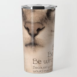 Wise Tabby Cat Travel Mug