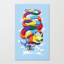 Stan, the Forgotten Luckdragon, and His Italian Skydog Skeletori Canvas Print