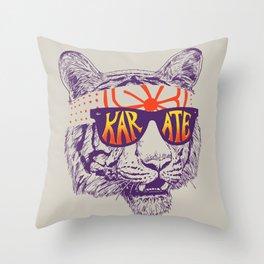 Karate Tiger Throw Pillow