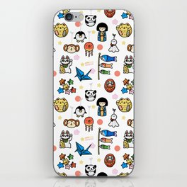Lucky Japan Doodle iPhone Skin
