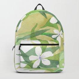 Granny's white flowers Backpack