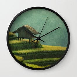 CHINA Travel Poster Vintage Style Wall Clock
