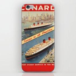 Vintage poster - Cunard iPhone Skin