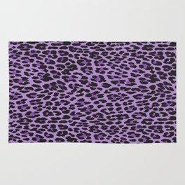 Animal Print, Spotted Leopard - Purple Black Rug