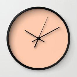 Sunset Sings Quietly ~ Peach Sherbet Wall Clock