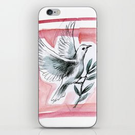 Peace Dove (Red) iPhone Skin