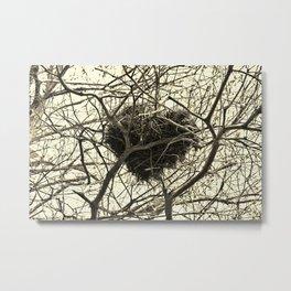 Heart-Shaped Nest Metal Print