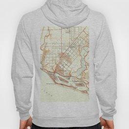 Vintage Map of Newport Beach California (1951) Hoody