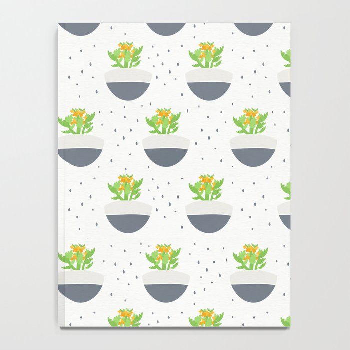 Potted Kalanchoe Plant Mom Pattern Notebook