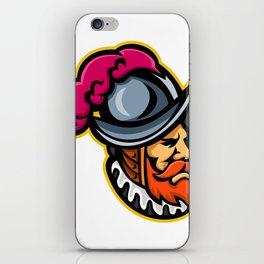 Spanish Conquistador Head Mascot iPhone Skin