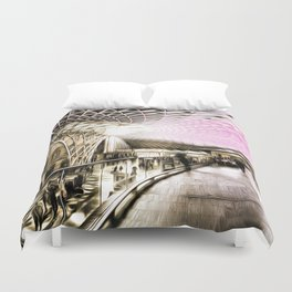 Futuristic London Art Duvet Cover