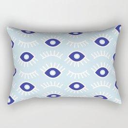 Wide Eye Awake Blues Rectangular Pillow