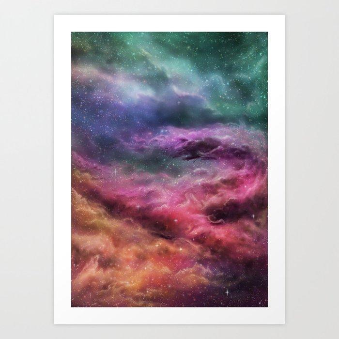 Digital Space 3: The Dance Art Print