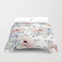 Pretty Succulents by Nature Magick Duvet Cover