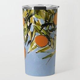 Orange Grove (Blue) Travel Mug
