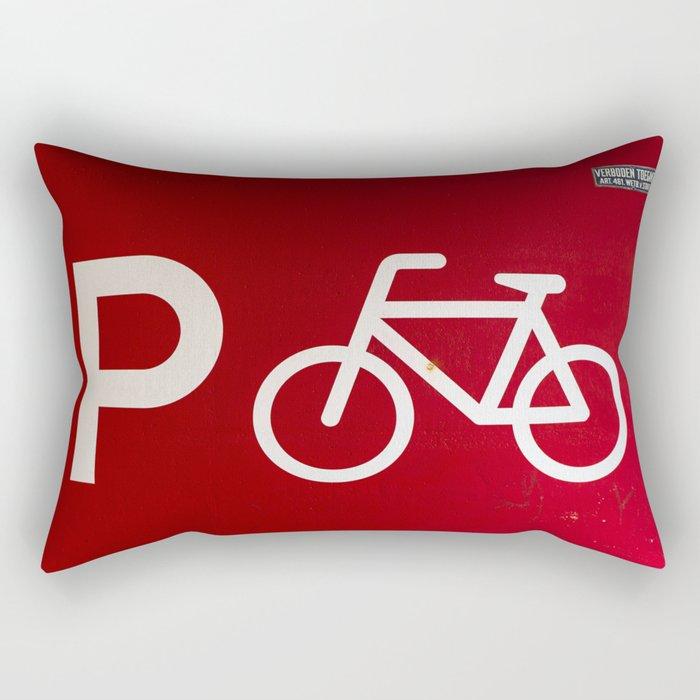 Amsterdam streets - #red 2 Rectangular Pillow