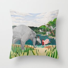 BORN ON THE WETLANDS Throw Pillow