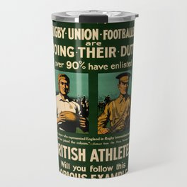 British rugby, football players call for duty Travel Mug