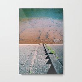 On the river wall. Metal Print