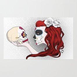 Skull Girl Rug