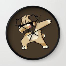 Dabbing Pug Wall Clock