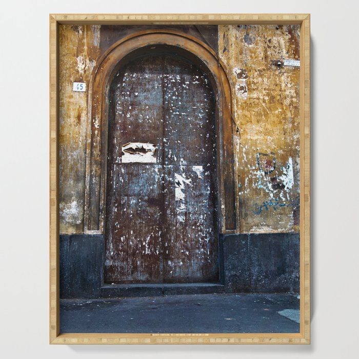 Old Sicilian door of Catania Serving Tray