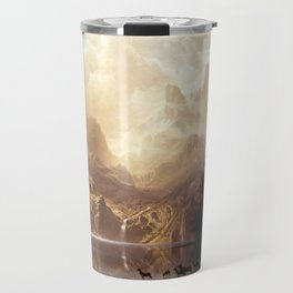 Albert Bierstadt - Among the Sierra Nevada, California Travel Mug