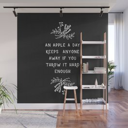 An Apple A Day BW Wall Mural