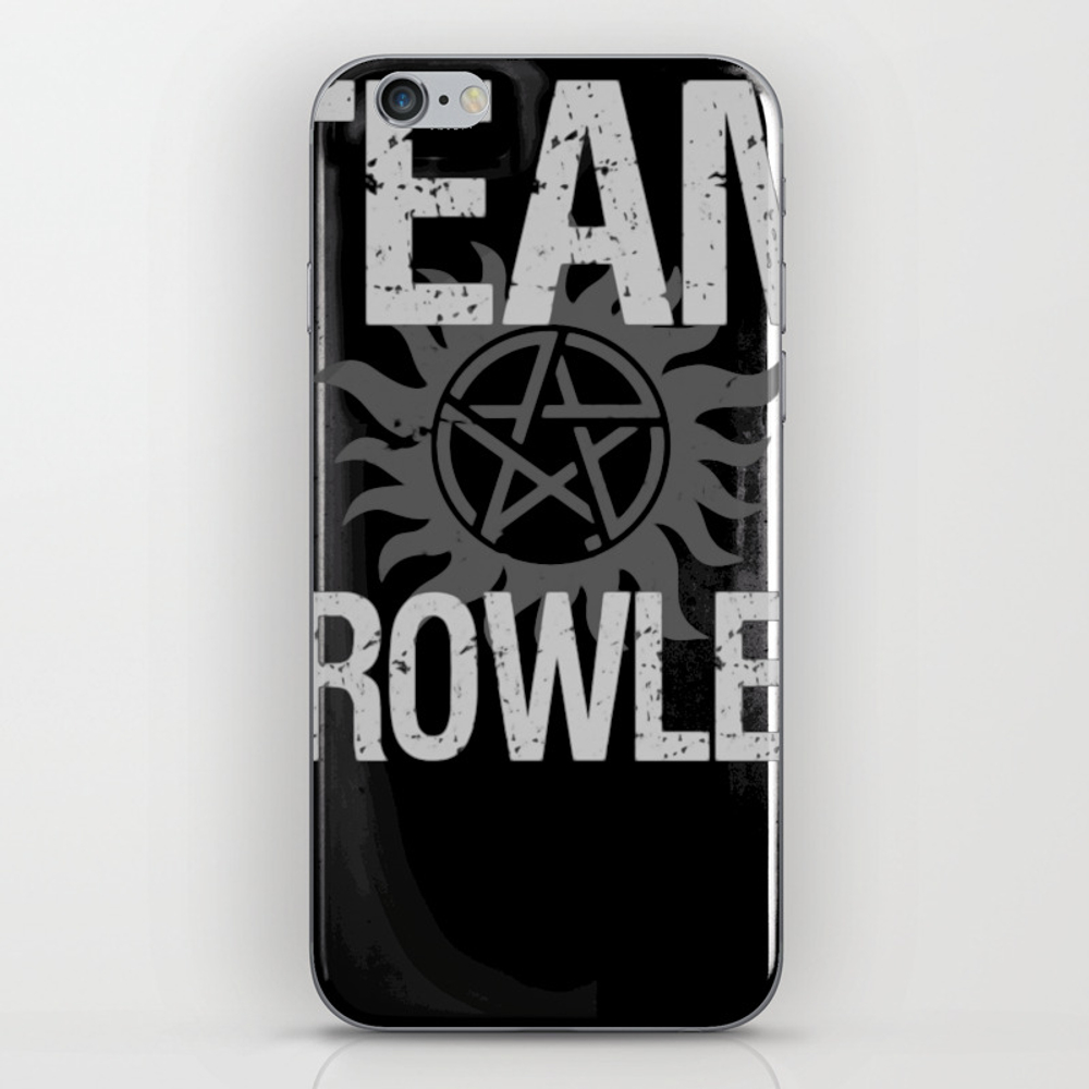 Supernatural Team Crowley Iphone & Ipod Skin by Thadesign PSK8969885